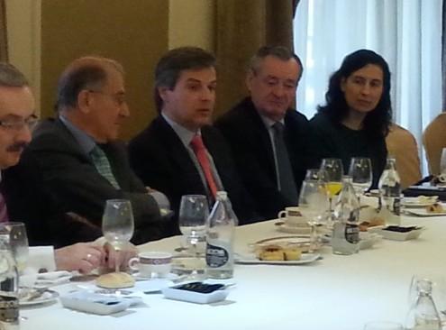 Fernando Borrachero (en el centro), secretario general de la Cámara de Comercio Hispano-Polaca