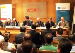 El presidente del Club, Balbino Prieto, intervino al inicio del acto junto con el consejero delegado de ICEX, Francisco Javier Garzón, y el consejero delegado de Enagás, Marcelino Oreja