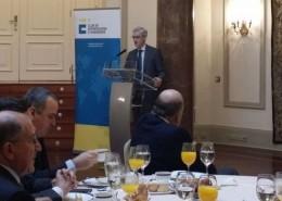 El director general de Comercio Internacional e Inversiones, Antonio Fernández-Martos, acompañado por su equipo, expuso las lineas directrices del FIEM para 2015