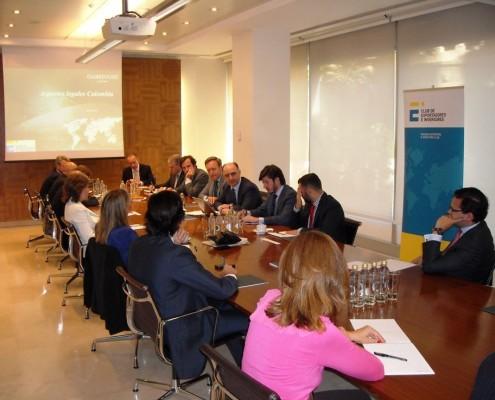 El Club de Exportadores y el despacho de abogados Garrigues organizaron una reunión de trabajo sobre el mercado colombiano