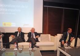 El presidente de la Región de Murcia y el secretario de Estado de Comercio,  Jaime García-Legaz, participaron en la clausura de la jornada