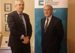 Eduardo López Busquets y Balbino Prieto al finalizar el acto