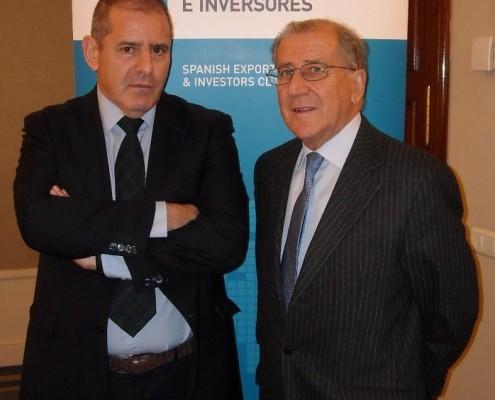 El embajador Hergueta y Balbino Prieto
