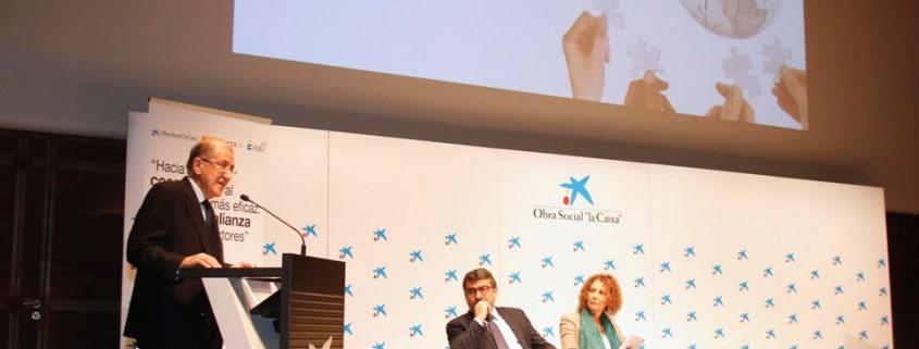 Balbino Prieto, presidente del Club de Exportadores, durante la apertura del acto