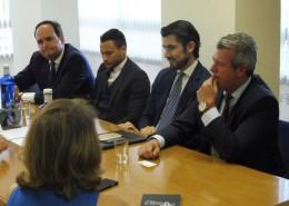 Rodrigo Tilve Seoane, consejero comercial de España en Guatemala, con competencias también en Nicaragua y Belice (segundo por la derecha)