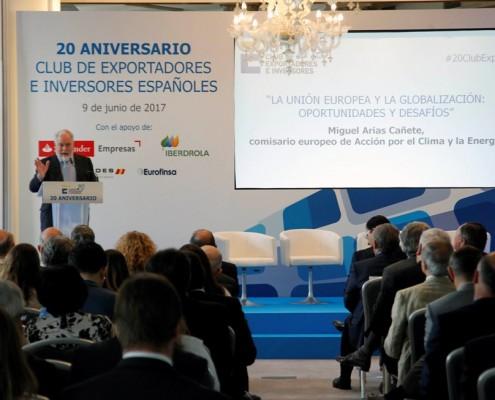 El comisario Miguel Arias Cañete, durante su intervención