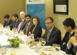 José Nuño García, el consejero económico y comercial de España en Arabia Saudí, durante su intervención