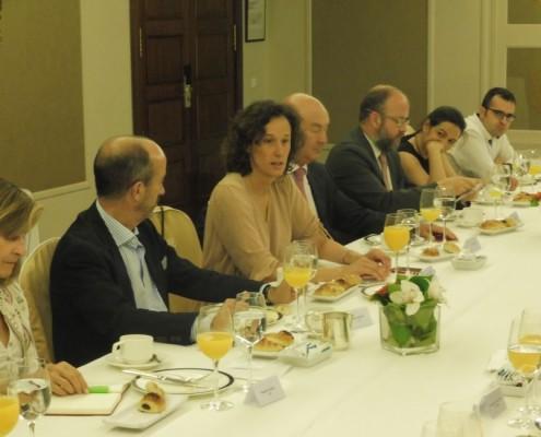 Valvanera Ulargui, directora general de la Oficina Española de Cambio Climático durante su intervención