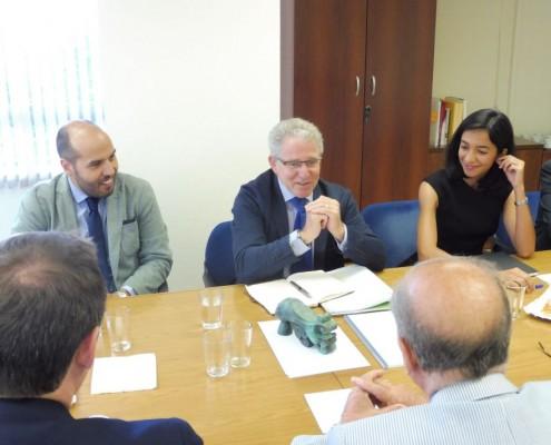 El nuevo embajador de España en Mauritania, Jesús Santos Aguado, durante su intervención